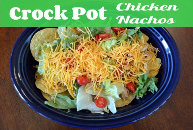 Crock-pot Pulled Chicken Nachos
