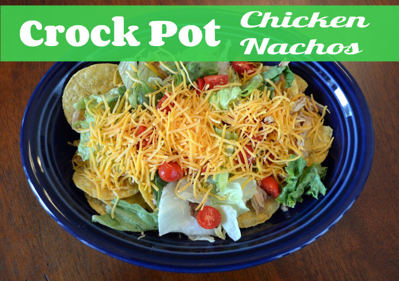 Crock-pot Pulled Chicken Nachos
