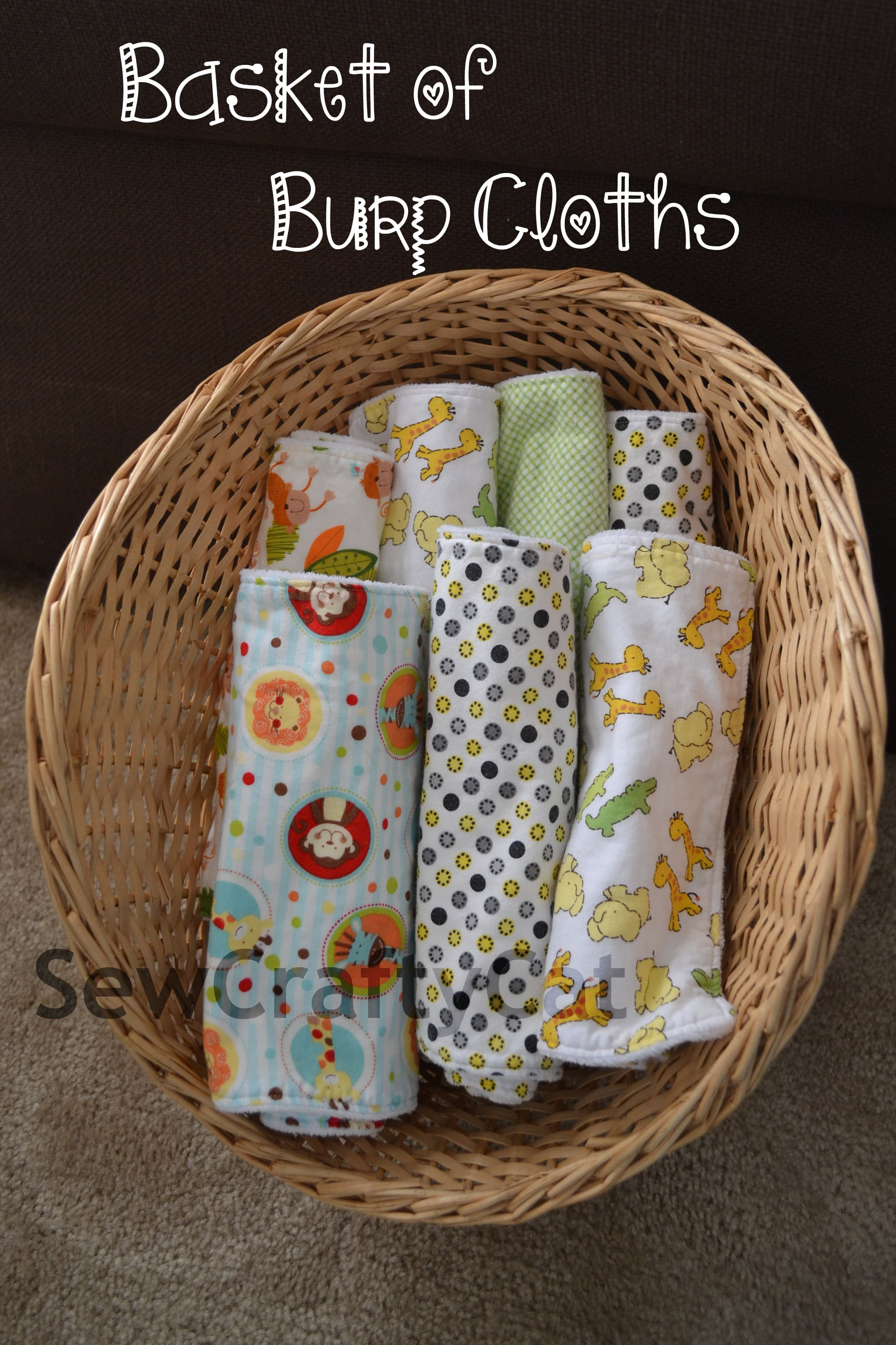 Basket of Burp Cloths