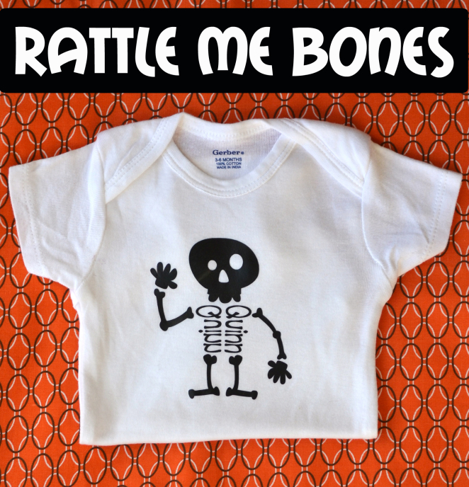 Use HTV and your silhouette cameo to make this super cute personalized shirt for Halloween!