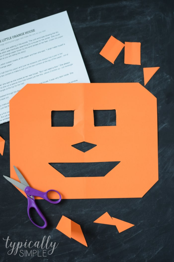 The Little Orange House is a fun activity to do with the kids for Halloween! Have them follow along cutting a piece of paper while you read the story for a fun surprise at the end!