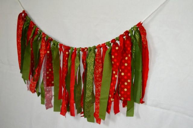 Fabric Christmas Garland