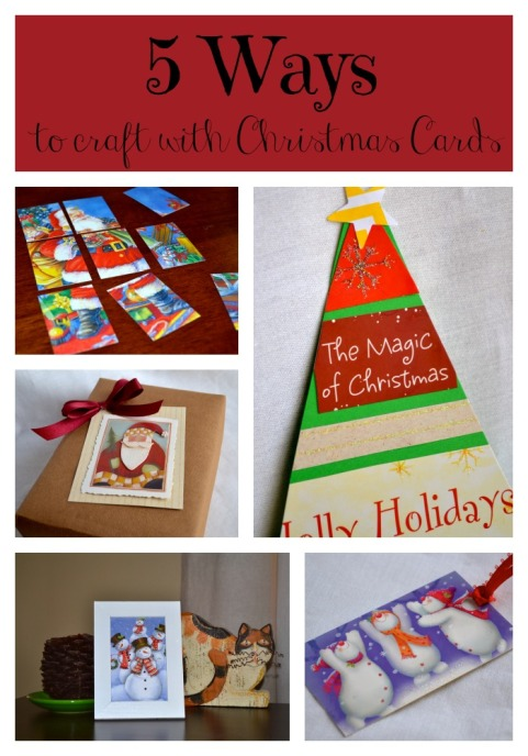 5 ways to craft with Christmas cards