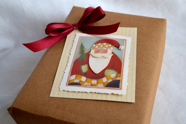 Christmas Card as gift packaging
