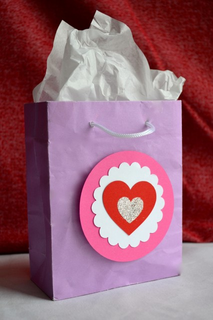 Embellish a bag for Valentine's Day
