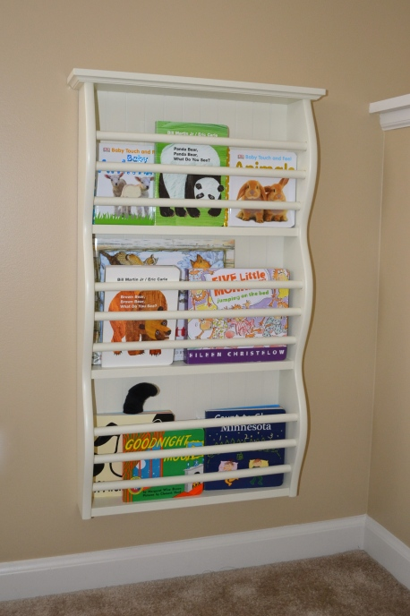 Magazine rack to hold books