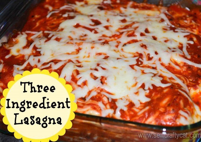 Three Ingredient Lasagna