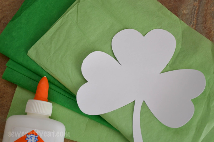 Supplies for Tissue Paper Shamrock