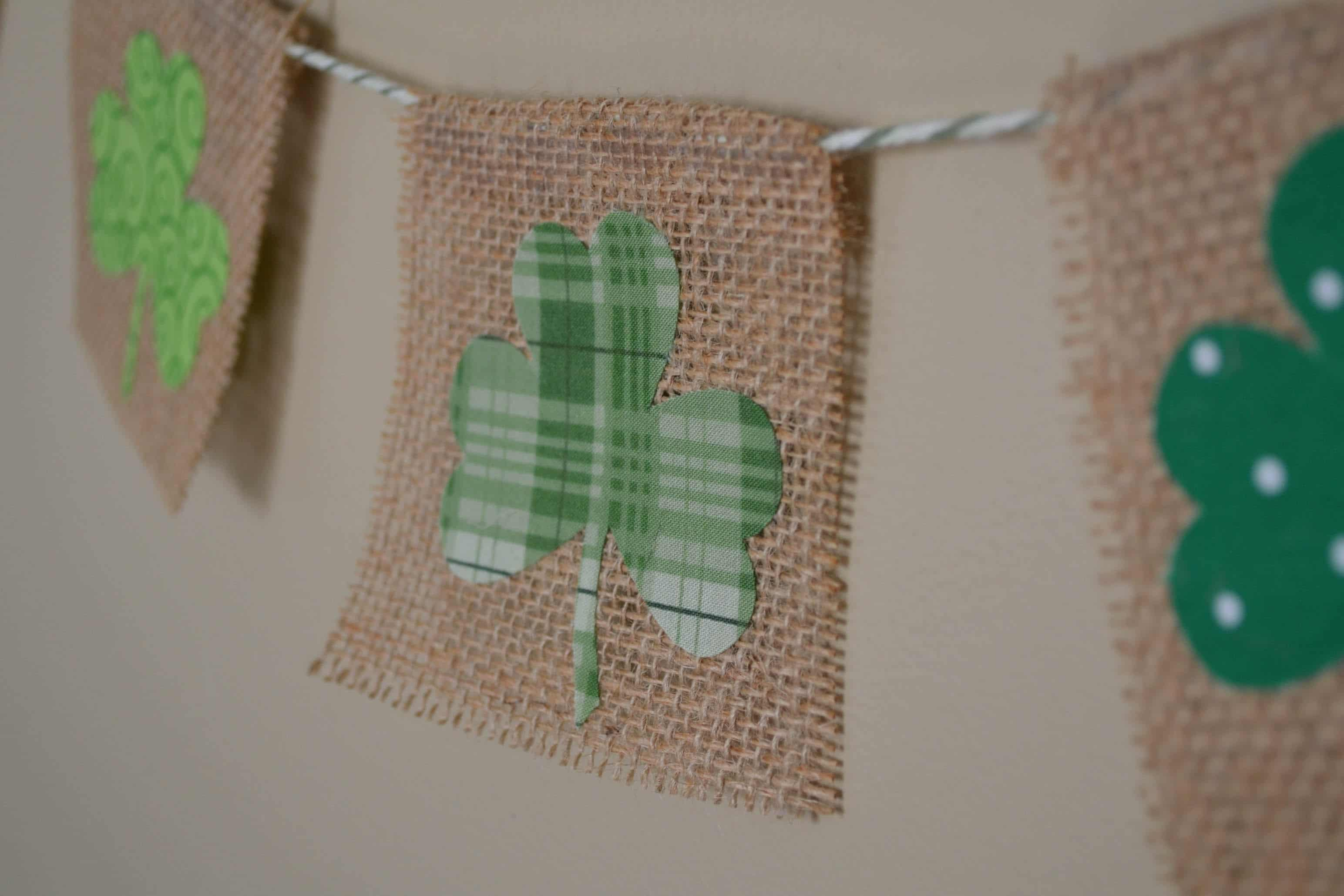 Shamrock Bunting – How To Cut Fabric with a Silhouette Cameo