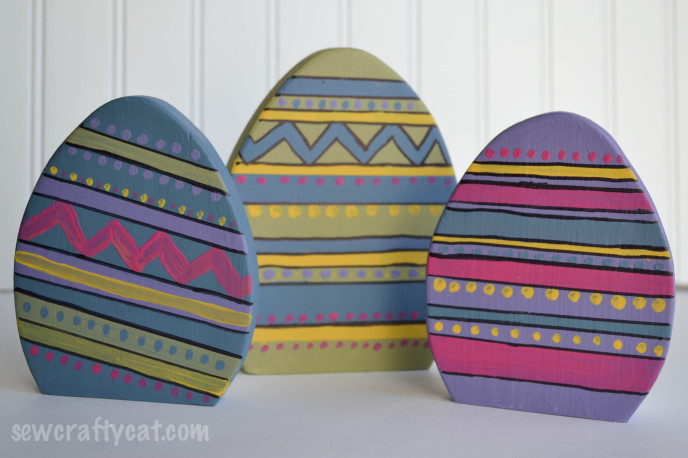 Wood Easter Eggs DIY