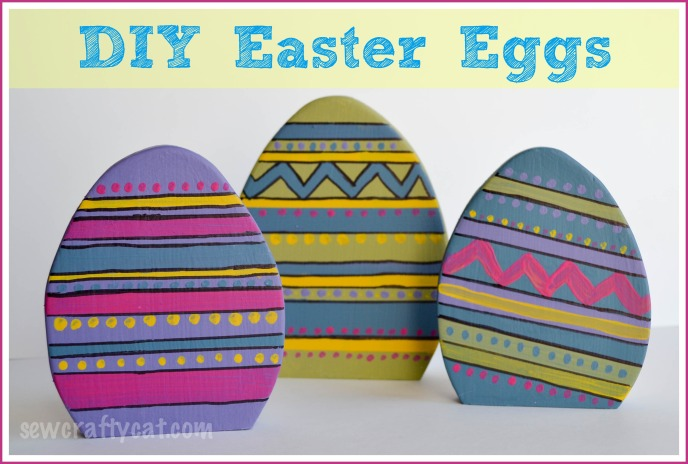DIY project - Wood Easter Eggs