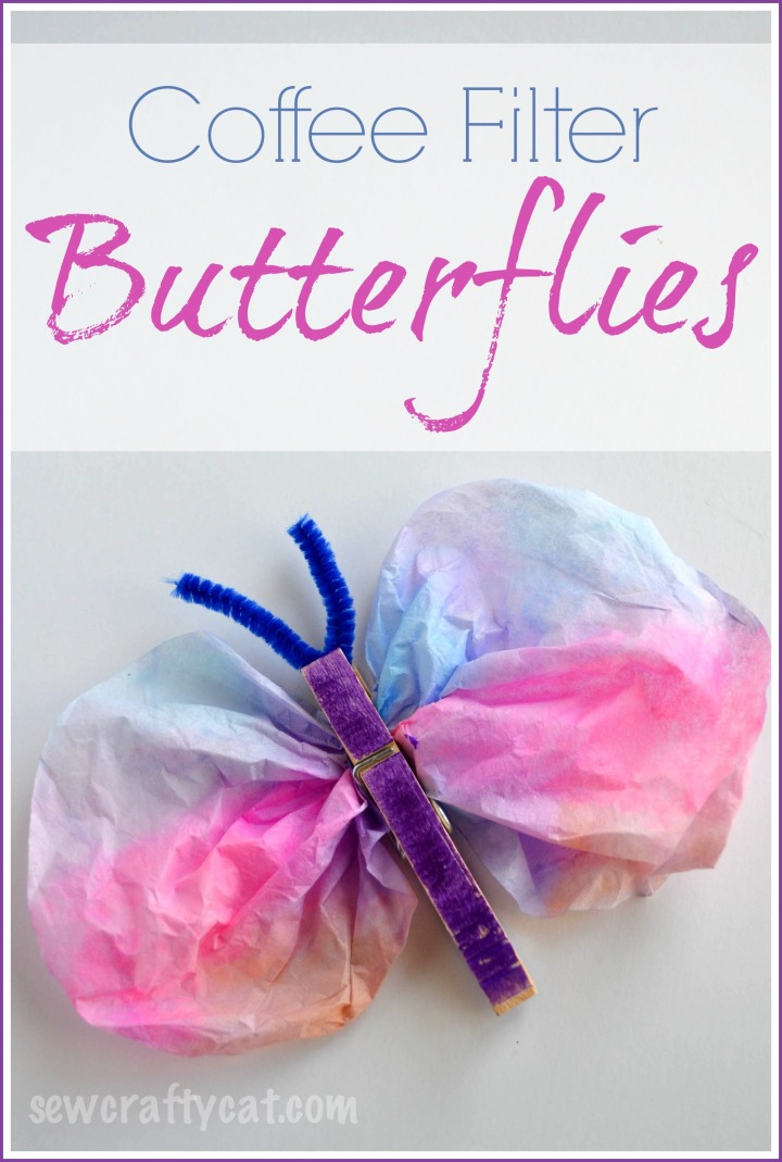craft for kids using coffee filters