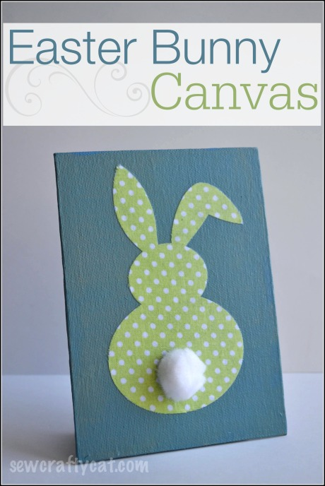 Easter Bunny Canvas - Home Decor | sewcraftycat.com