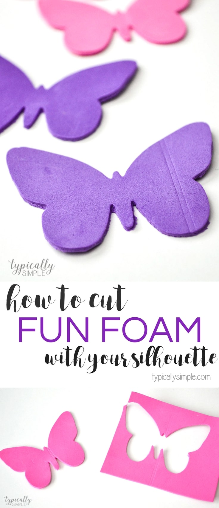 Learn how to cut fun foam with your Silhouette Cameo to create cute pencil toppers, craft projects, and more!