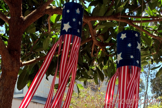 Upcycled Patriotic Windsock