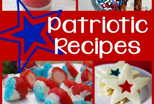 A roundup of 20 patriotic recipes, from breakfast dishes and smoothies to appetizers and desserts - these delicious recipes will be great for 4th of July! #roundup #recipe #patriotic
