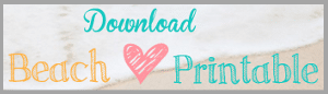 Download Beach {Love} Printable