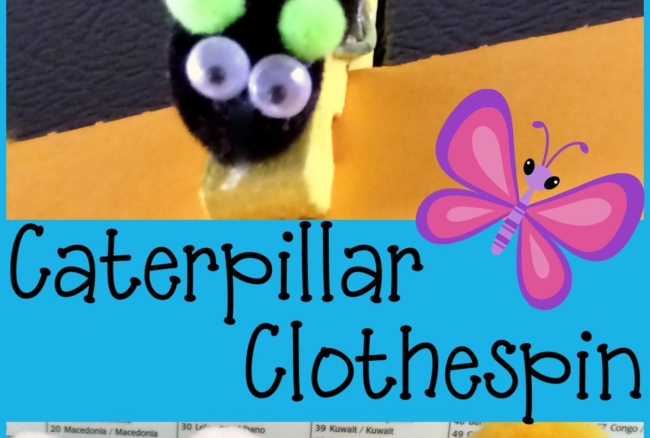 Caterpillar Clothespin Magnetic Clip
