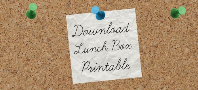 Download Lunch Box Printable