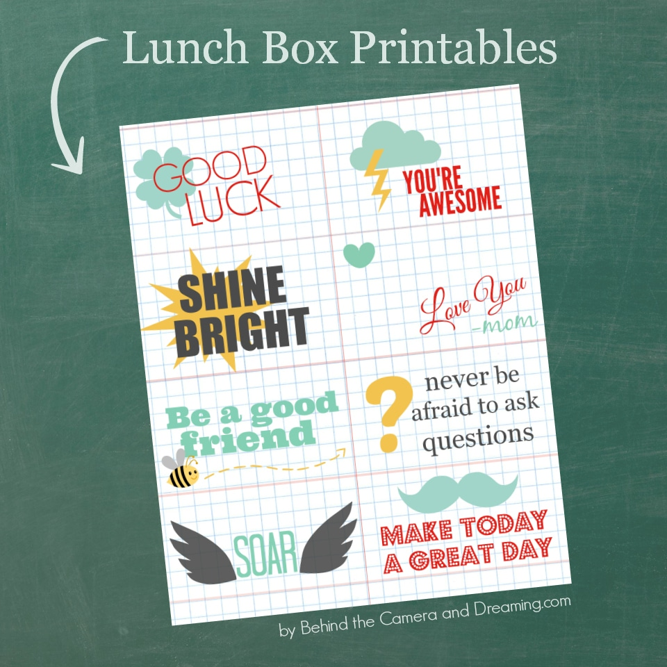 Lunch Box Notes {Printable}