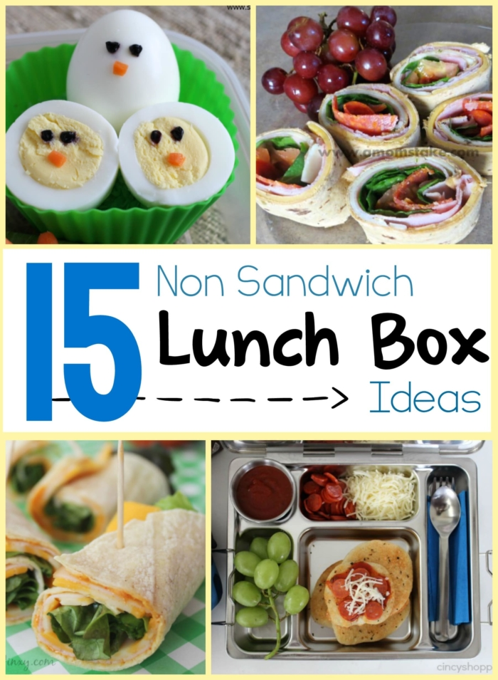 15 great lunch ideas for when sandwiches start to get boring. Perfect for school or work!