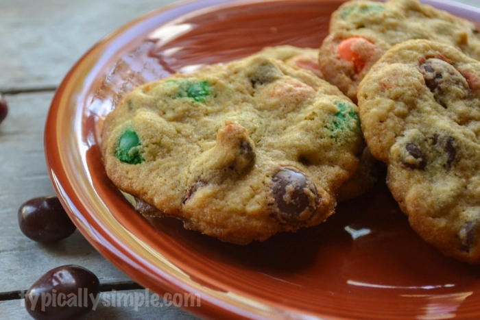 Pumpkin Spice M&M Cookies-1