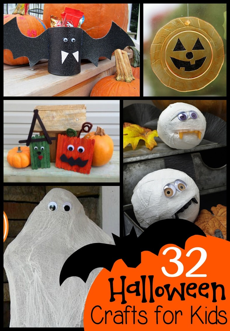 a roundup of halloween crafts perfect for classroom parties or fun at home - Halloween Crafts For The Classroom