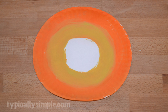 Paper Plate Candy Corn Bunting