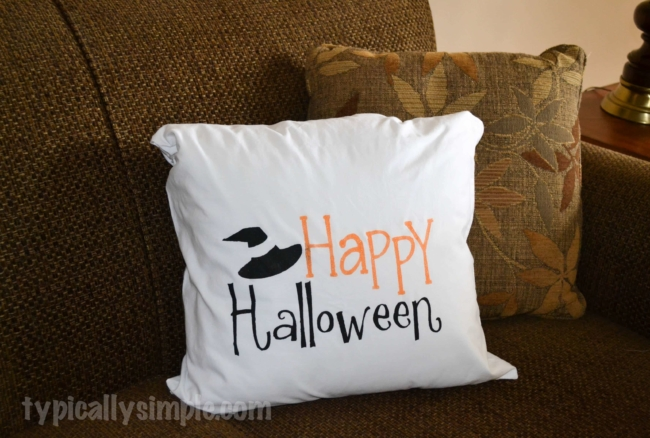 Halloween Pillow Cover using a Freezer Paper Stencil