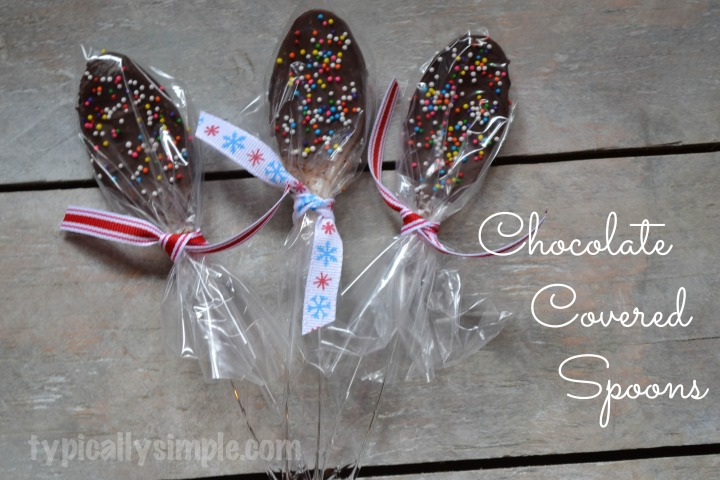Chocolate Covered Spoons for Gift Giving