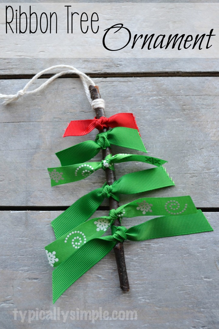 Ribbon Tree Ornament from Dollar Tree