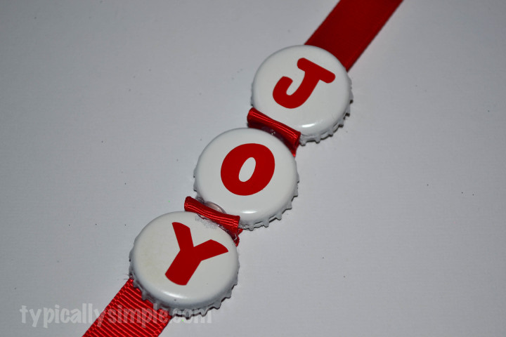 Bottle Cap Christmas Ornament
