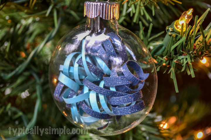 Curled Paper Strips Christmas Ornament