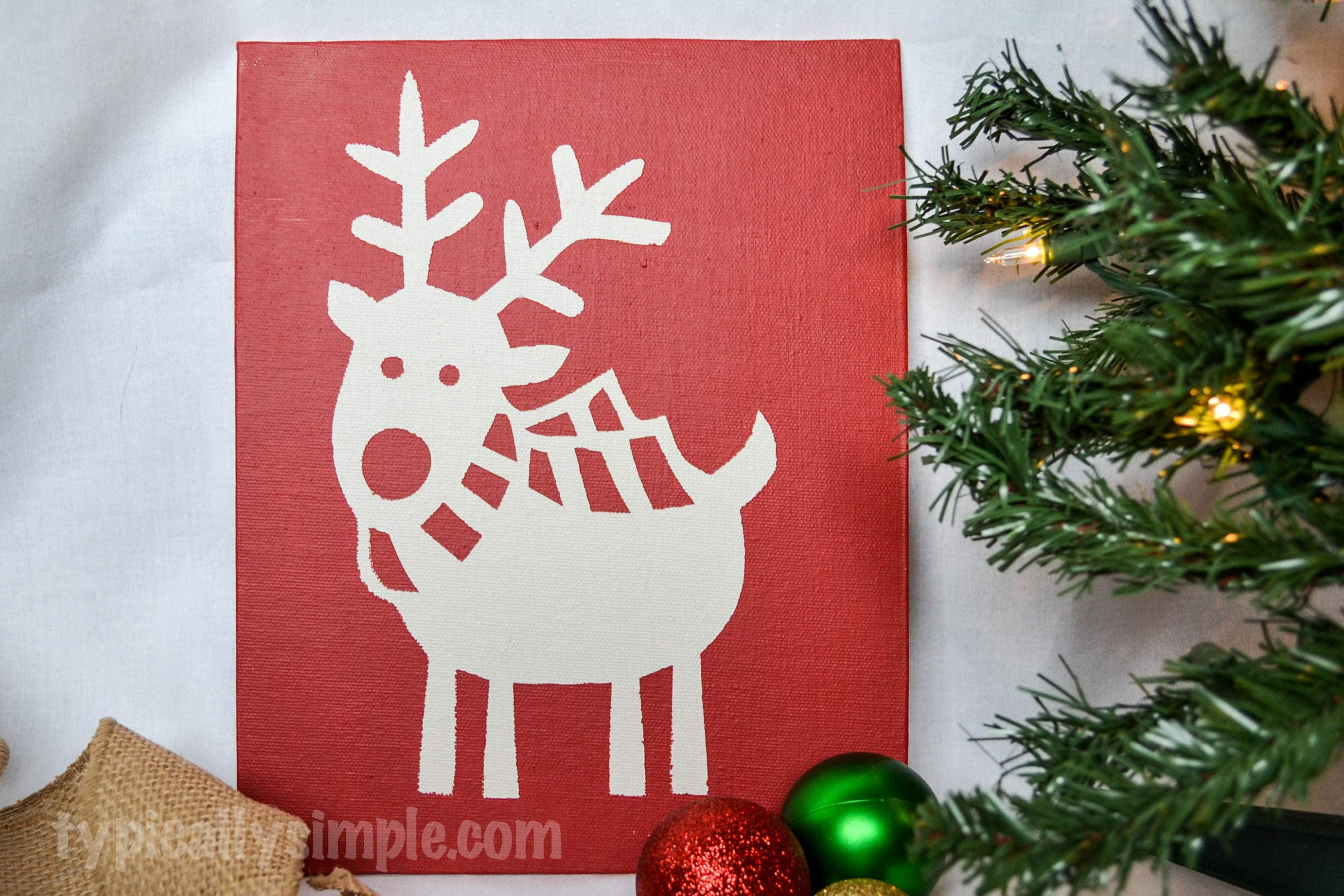 Reindeer Canvas Print with the PVPP Method