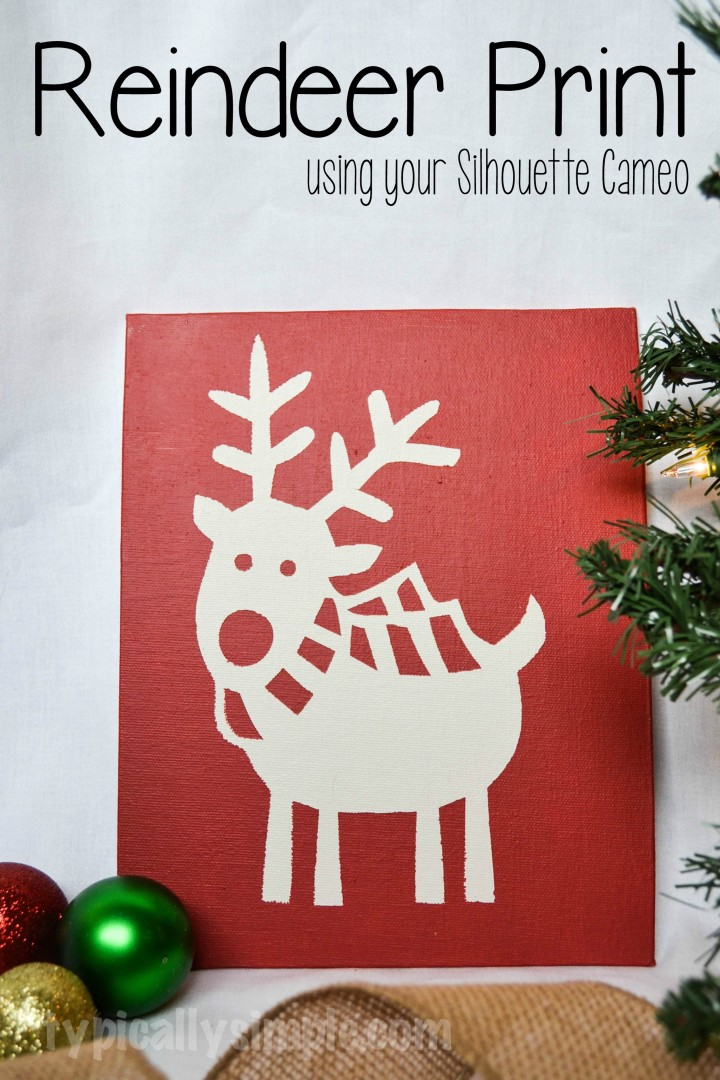 A fun project to make using your Silhouette Cameo and chalk paint! Follow these easy steps to make a fun little decor piece for any holiday or season!