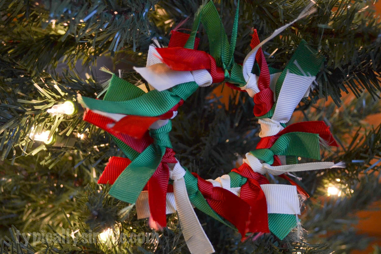 Ribbon Wreath Christmas Ornament