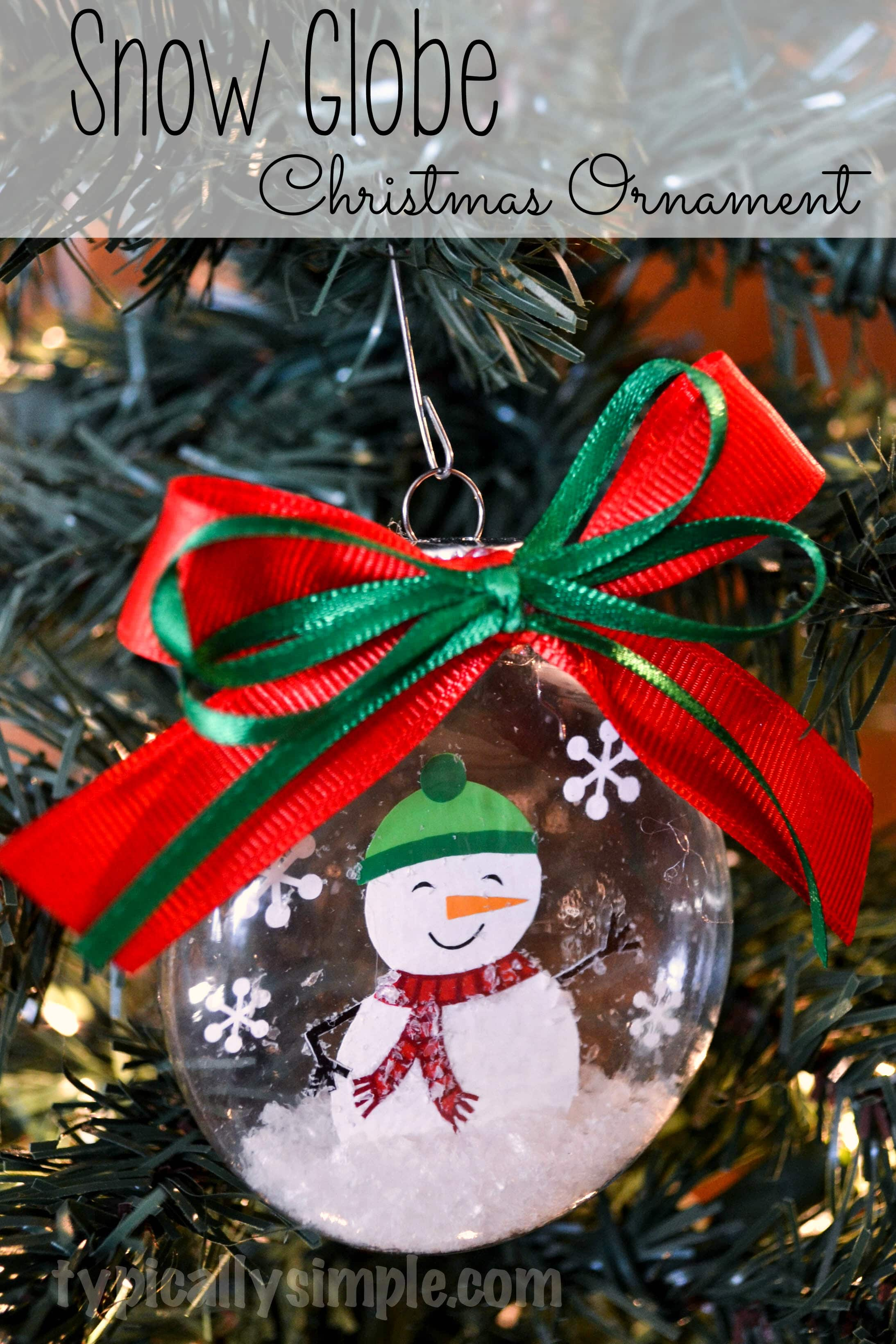 Create christmas ornament - Using Vinyl And Your Silhouette Cameo Create This Snow Globe Ornament For Christmas