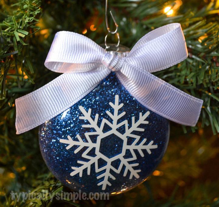 Snowflake Glitter Ornament