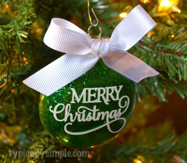 Merry Christmas Glitter Ornament