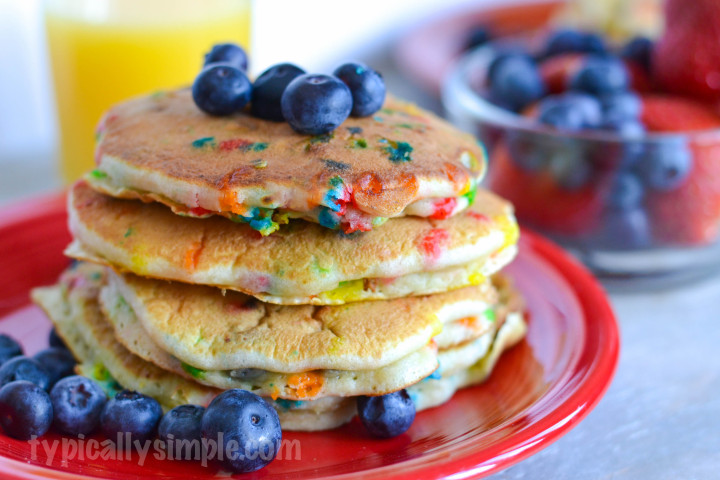 Blueberry and Sprinkles Pancake Recipe