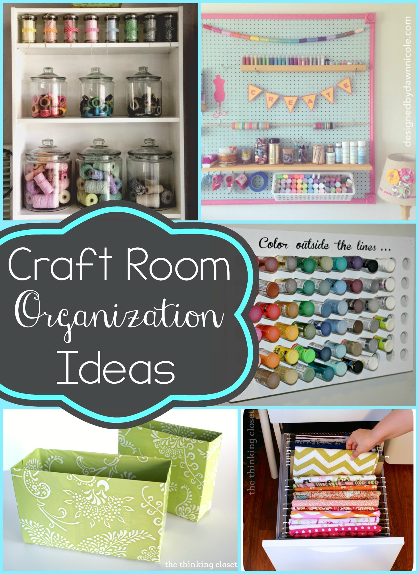 Ideas for organizing your craft room typically simple for Craft supplies organization ideas