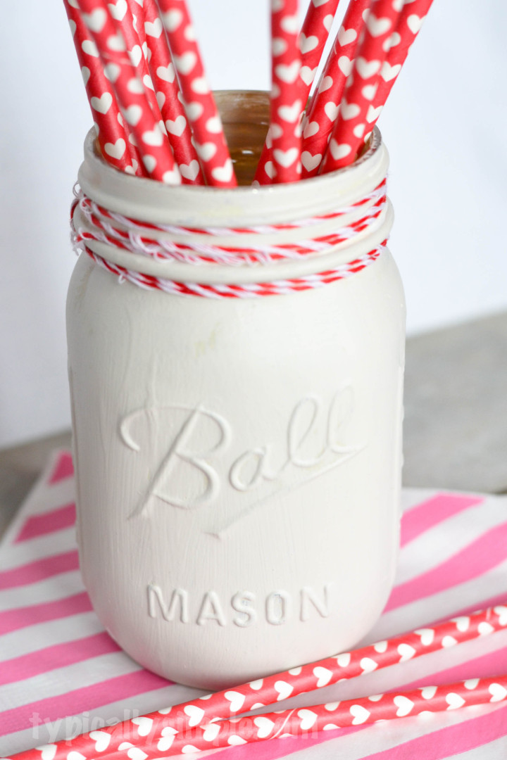 An easy DIY project using chalk paint and mason jars. Use different paint colors to match your home decor.