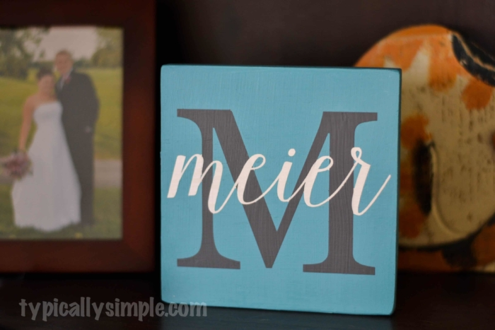 Chalk Finish Paint Family Name Wood Sign