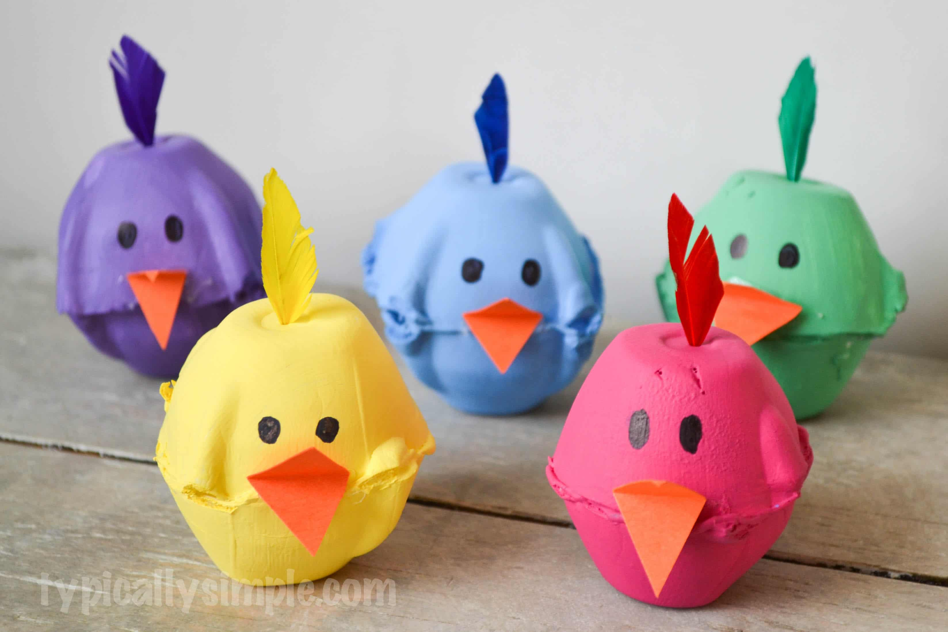 Superb Egg Carton Crafts Part - 2: Egg Carton Chicks