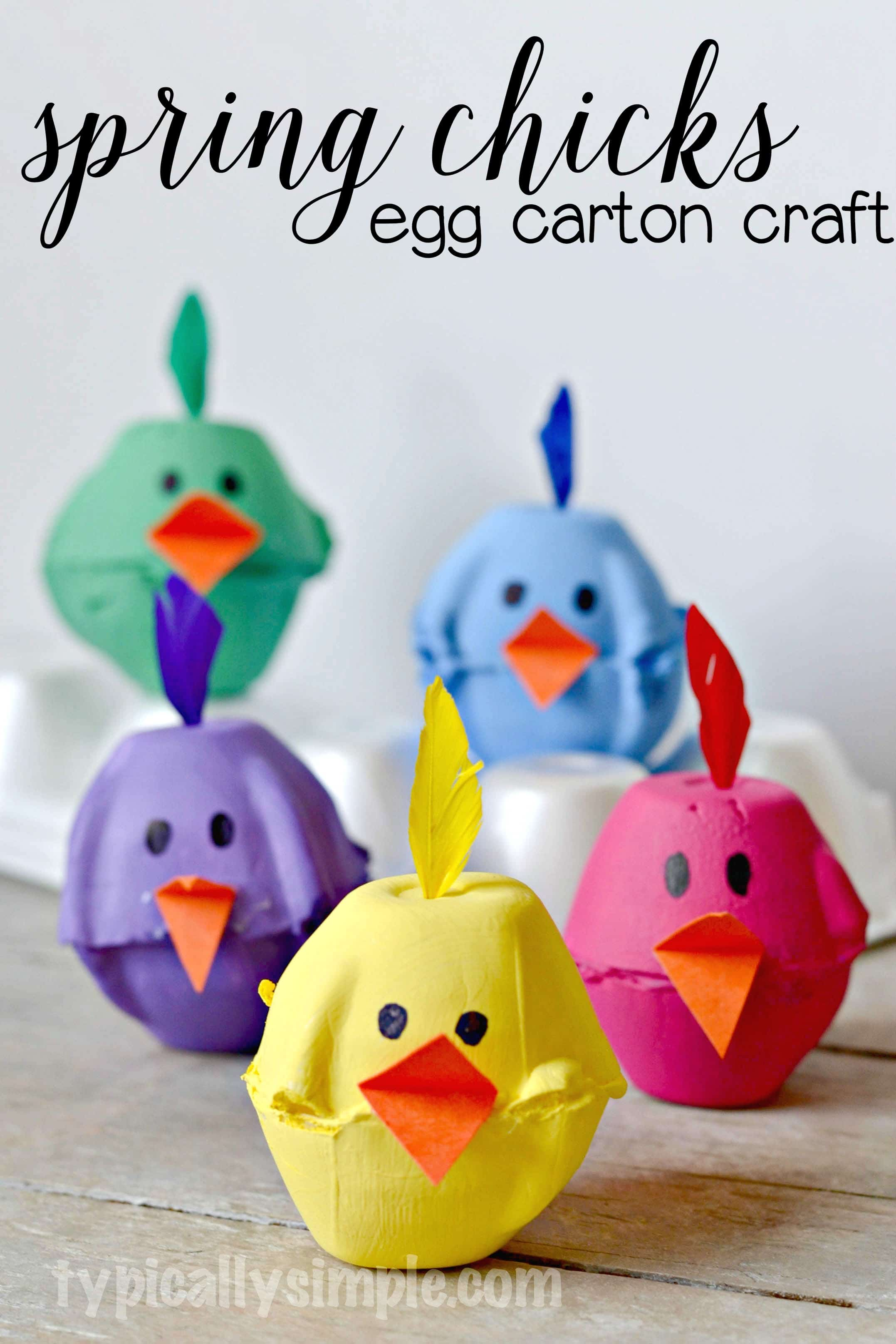 Wonderful Egg Carton Crafts Part - 9: Using Something Old, Making Something New! These Super Cute Egg Carton  Chicks Are The