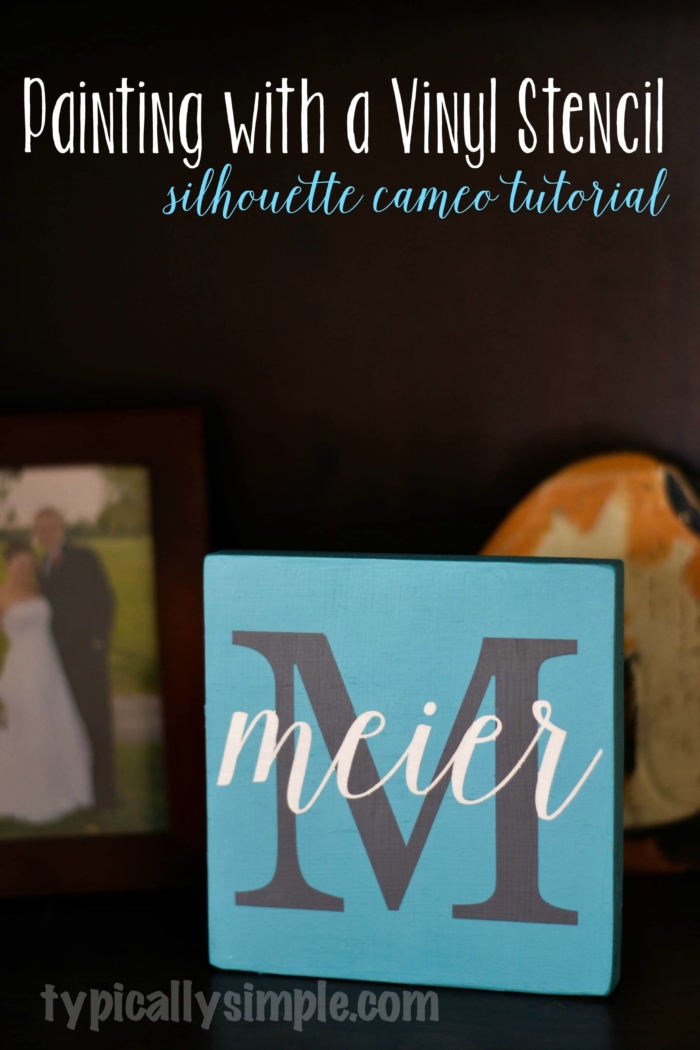 painting with a vinyl stencil
