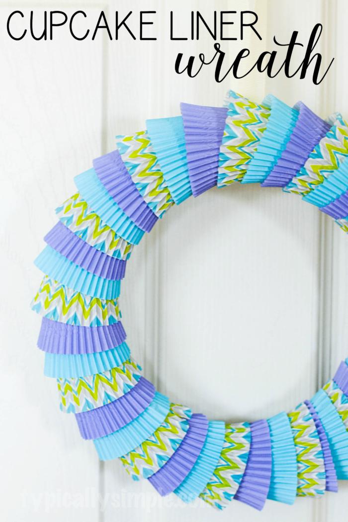 Cupcake Liner Wreath-