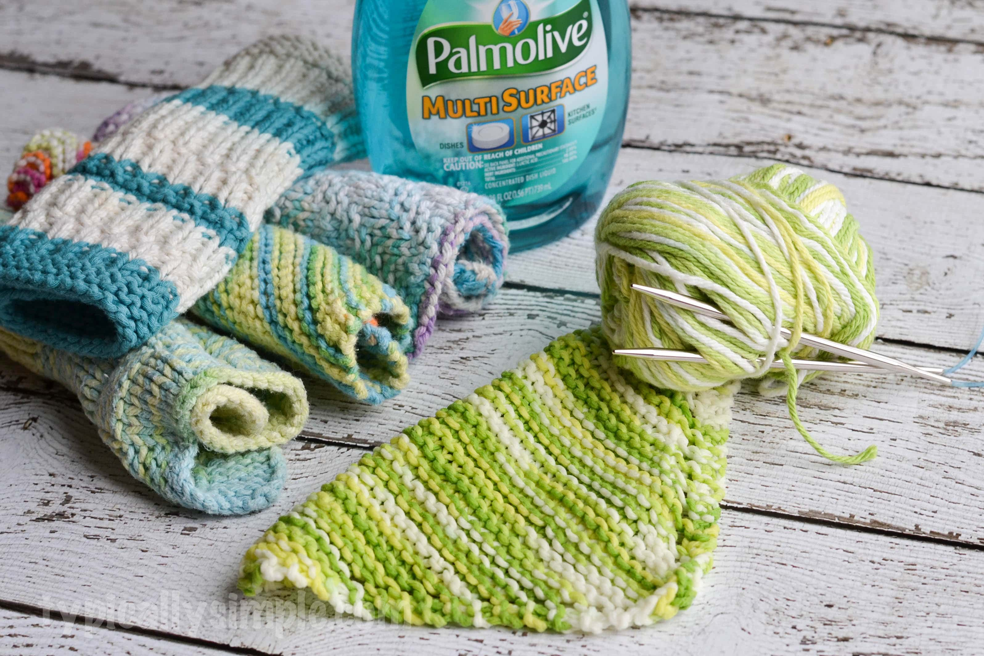 Simple Knitted Dishcloth Pattern