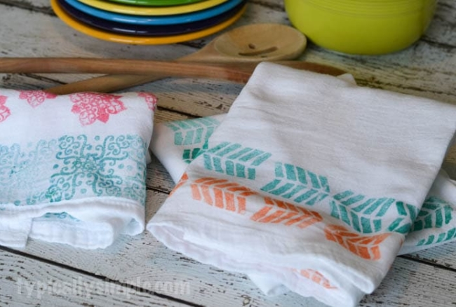 Block Printed Flour Sack Towels
