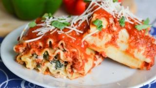Three Cheese Lasagna Roll-Ups